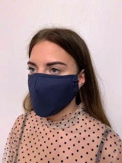 TUMŠI ZILA auduma maska ar filtru