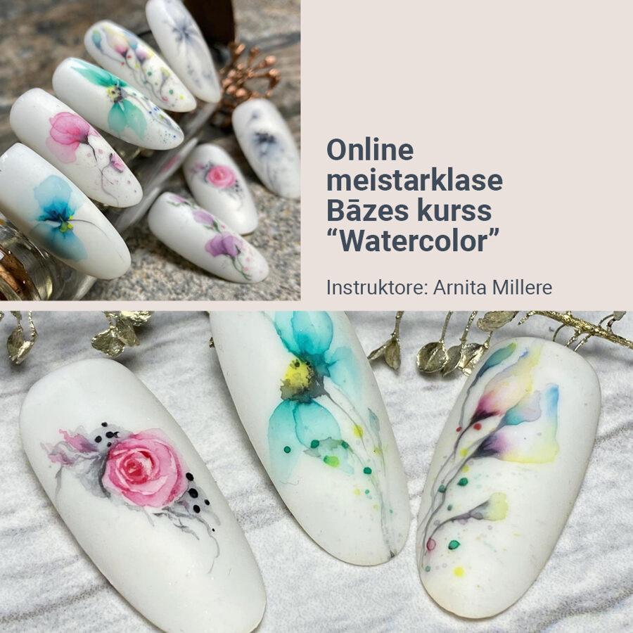 "Online meistarklase Bāzes kurss ""Watercolor"""